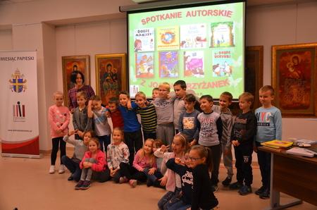 Spotkanie autorskie z Panią Joanną Krzyżanek - autorką bajek dla dzieci.