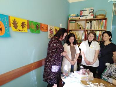 Świąteczna wizyta wszpitalu